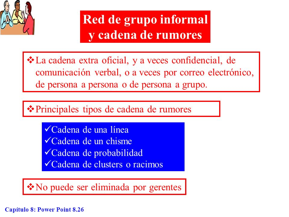 Red de grupo informal y cadena de rumores