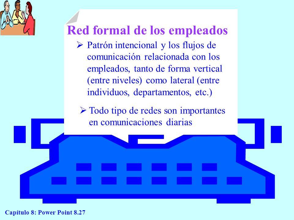 Red formal de los empleados