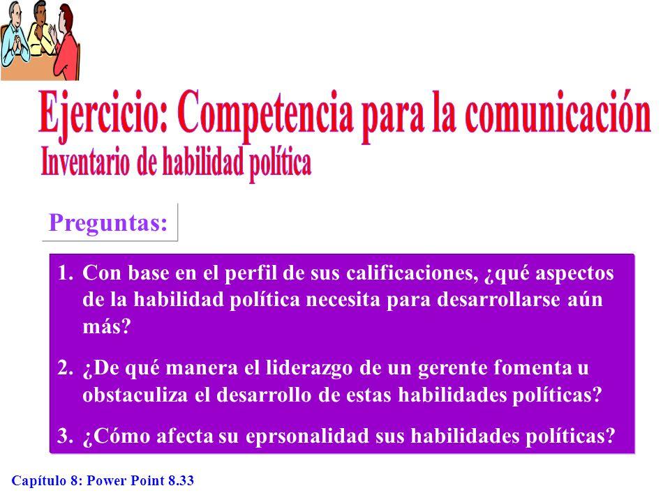 Ejercicio: Competencia para la comunicación