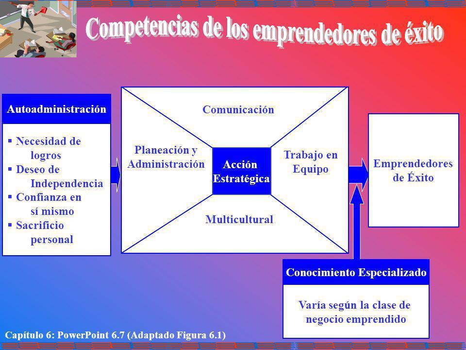 Competencias de los emprendedores de éxito Conocimiento Especializado