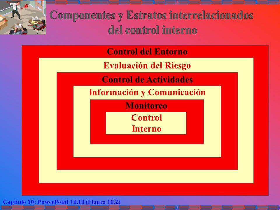 Componentes y Estratos interrelacionados del control interno