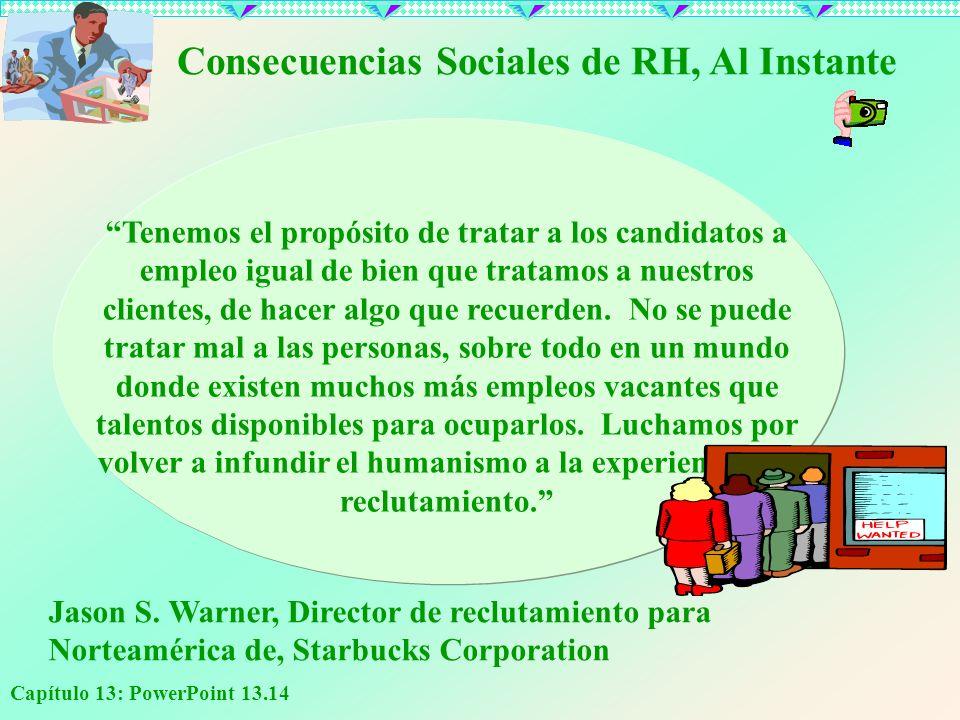 Consecuencias Sociales de RH, Al Instante