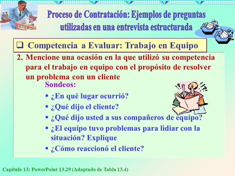 Proceso de Contratación: Ejemplos de preguntas