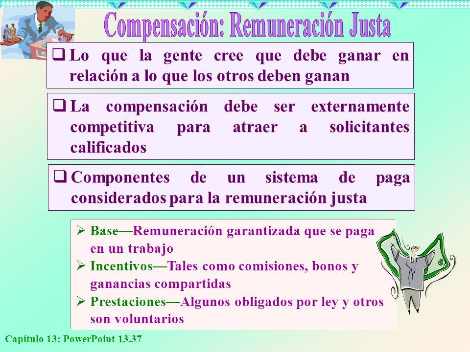 Compensación: Remuneración Justa