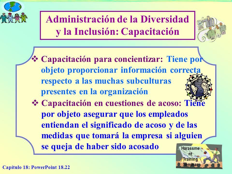 Administración de la Diversidad y la Inclusión: Capacitación