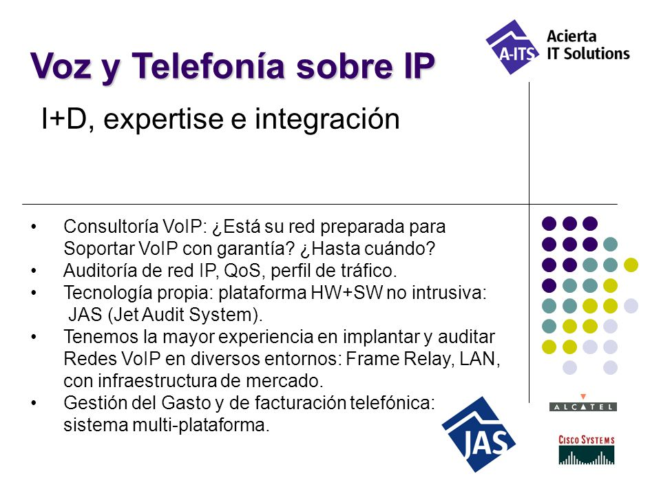 Voz y Telefonía sobre IP