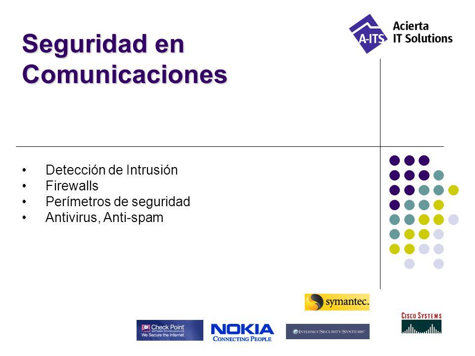 Seguridad en Comunicaciones Detección de Intrusión Firewalls