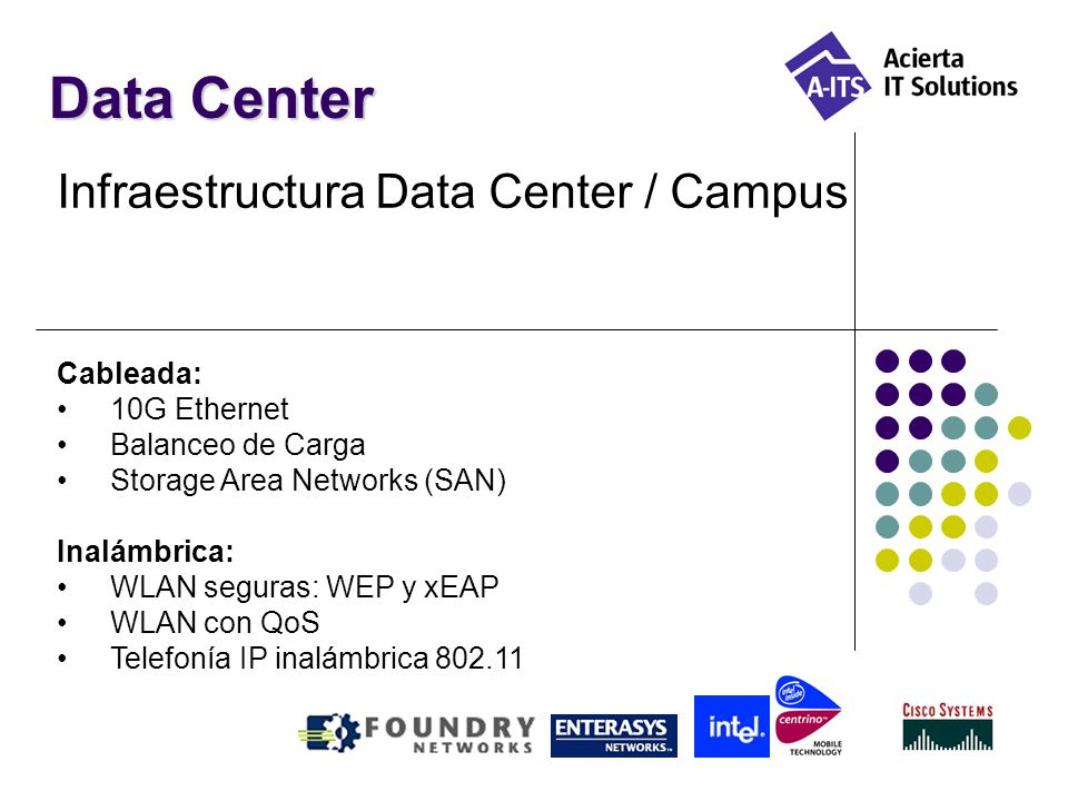 Data Center Infraestructura Data Center / Campus Cableada: