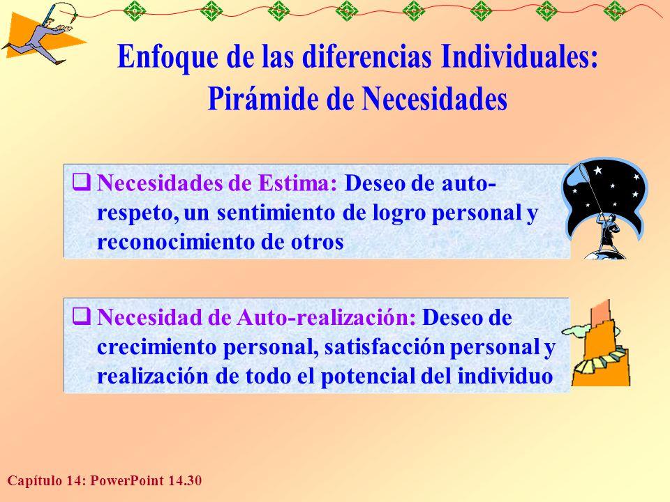 Enfoque de las diferencias Individuales: Pirámide de Necesidades