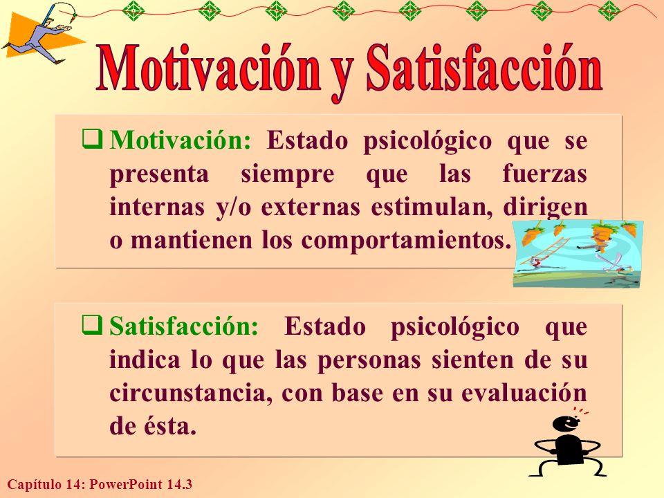 Motivación y Satisfacción