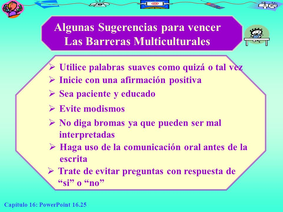Algunas Sugerencias para vencer Las Barreras Multiculturales