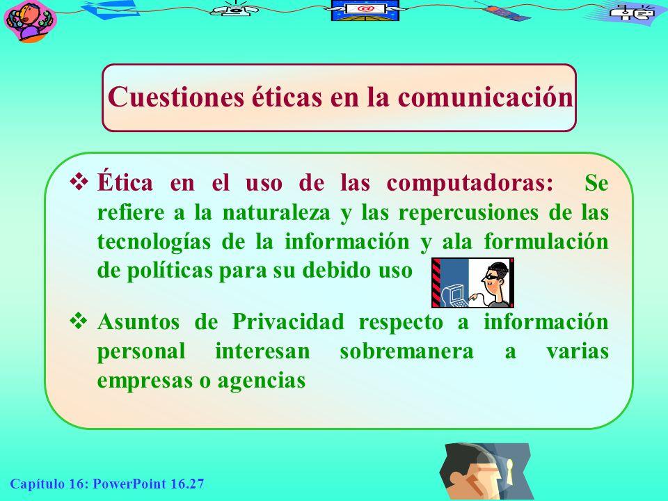 Cuestiones éticas en la comunicación