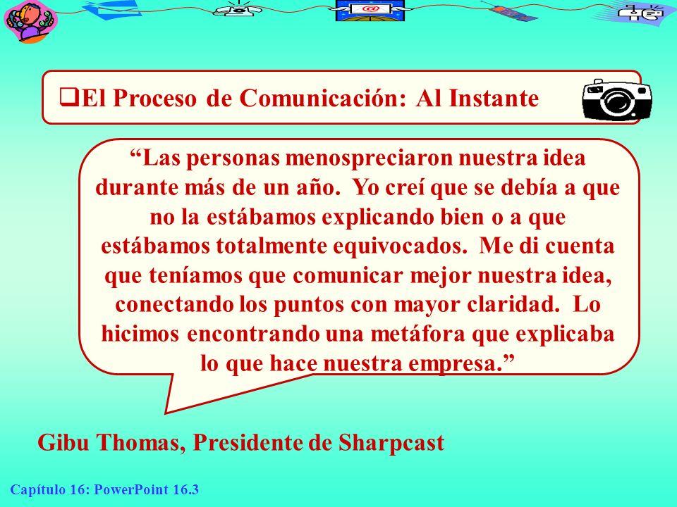El Proceso de Comunicación: Al Instante
