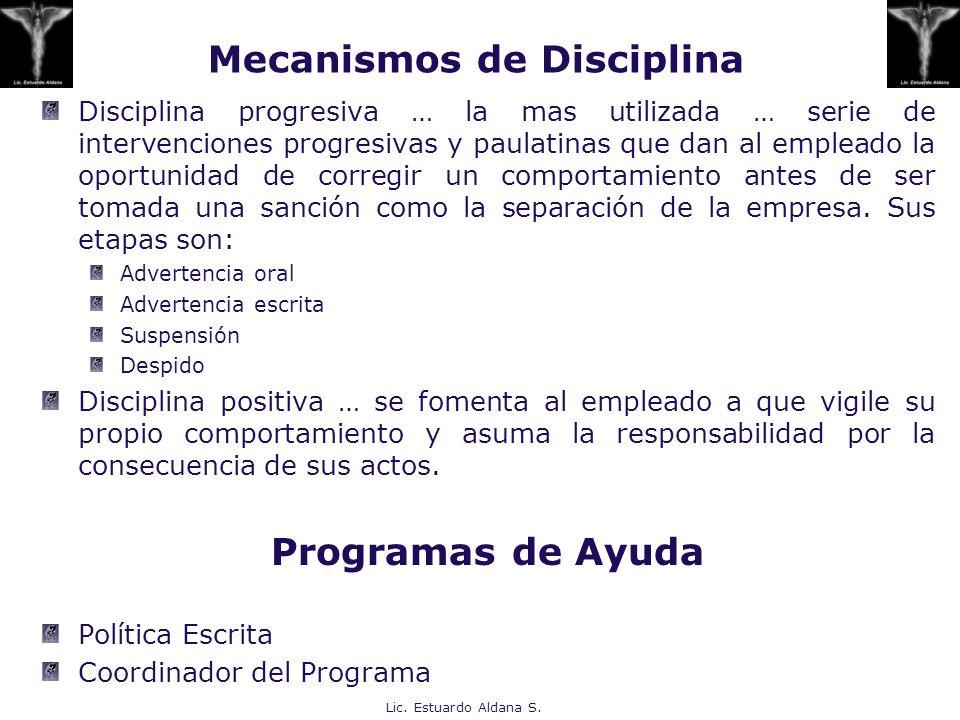 Mecanismos de Disciplina