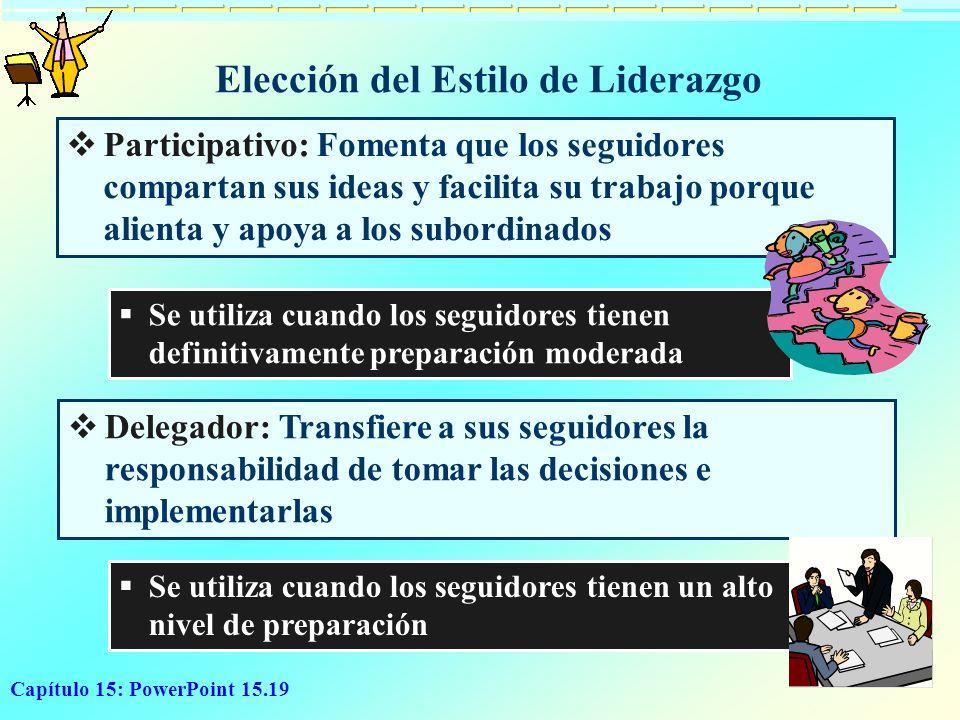 Elección del Estilo de Liderazgo