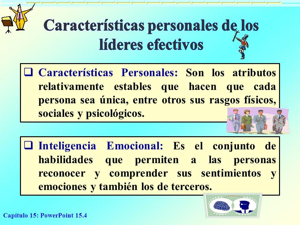 Características personales de los