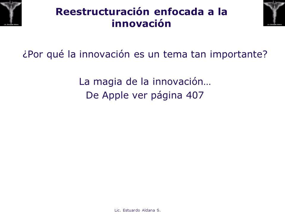 Reestructuración enfocada a la innovación