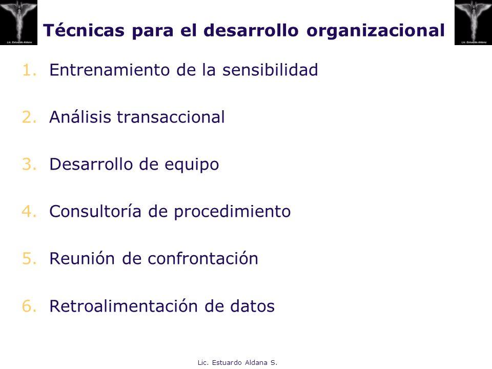Técnicas para el desarrollo organizacional