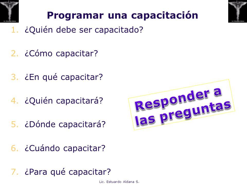 Programar una capacitación