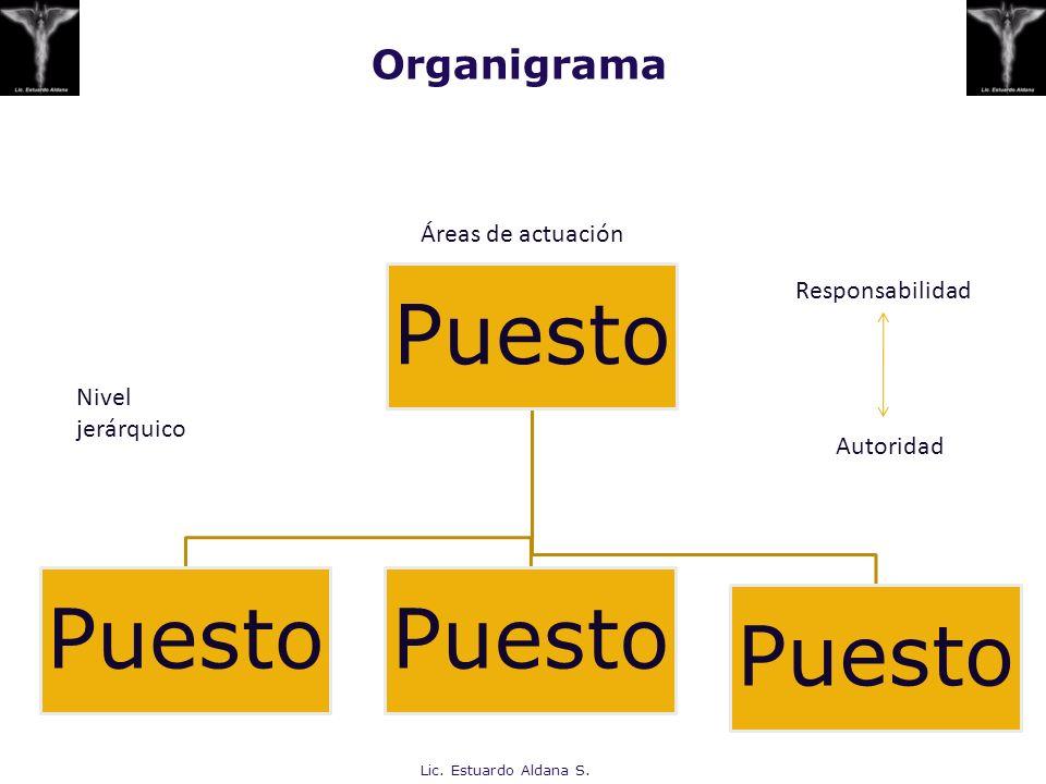 Organigrama Áreas de actuación Responsabilidad Nivel jerárquico