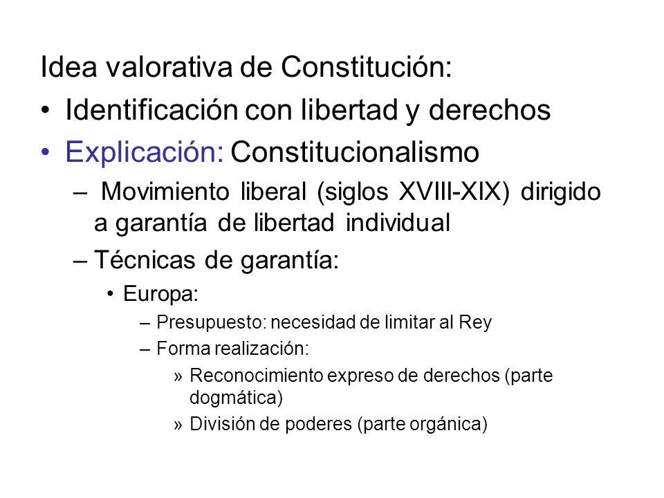 Idea valorativa de Constitución: