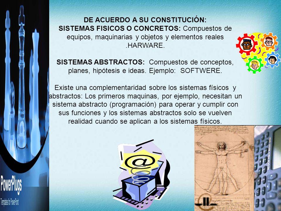 DE ACUERDO A SU CONSTITUCIÓN: