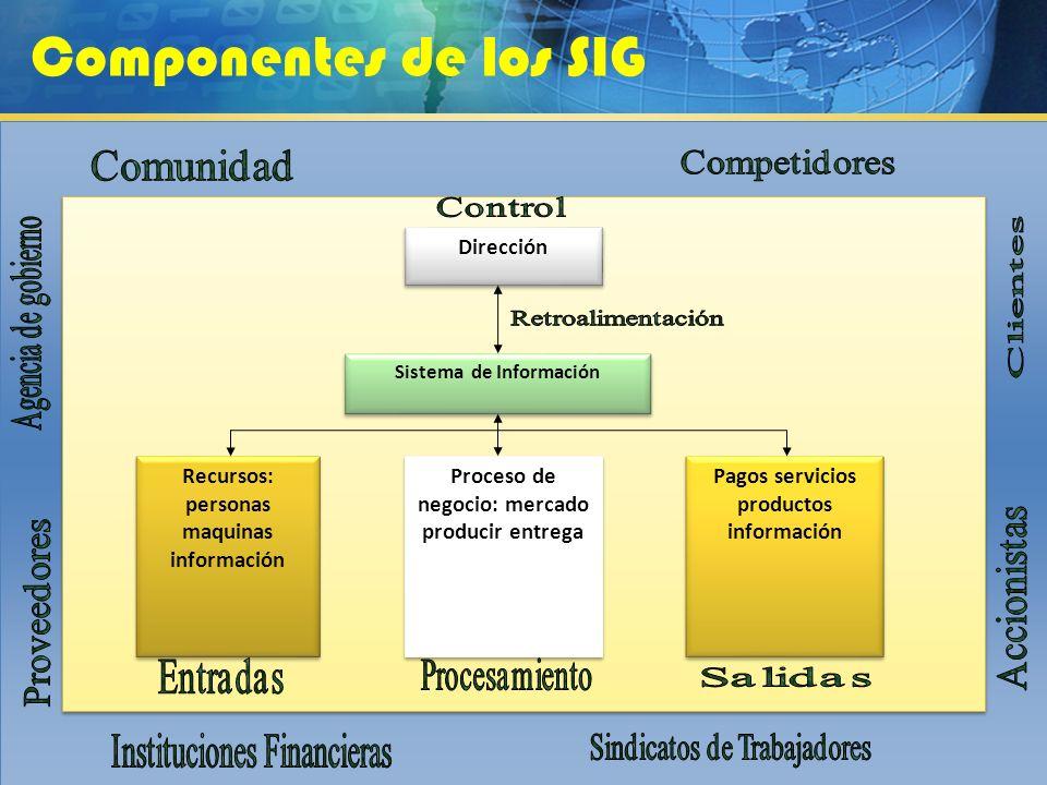 Componentes de los SIG Dirección