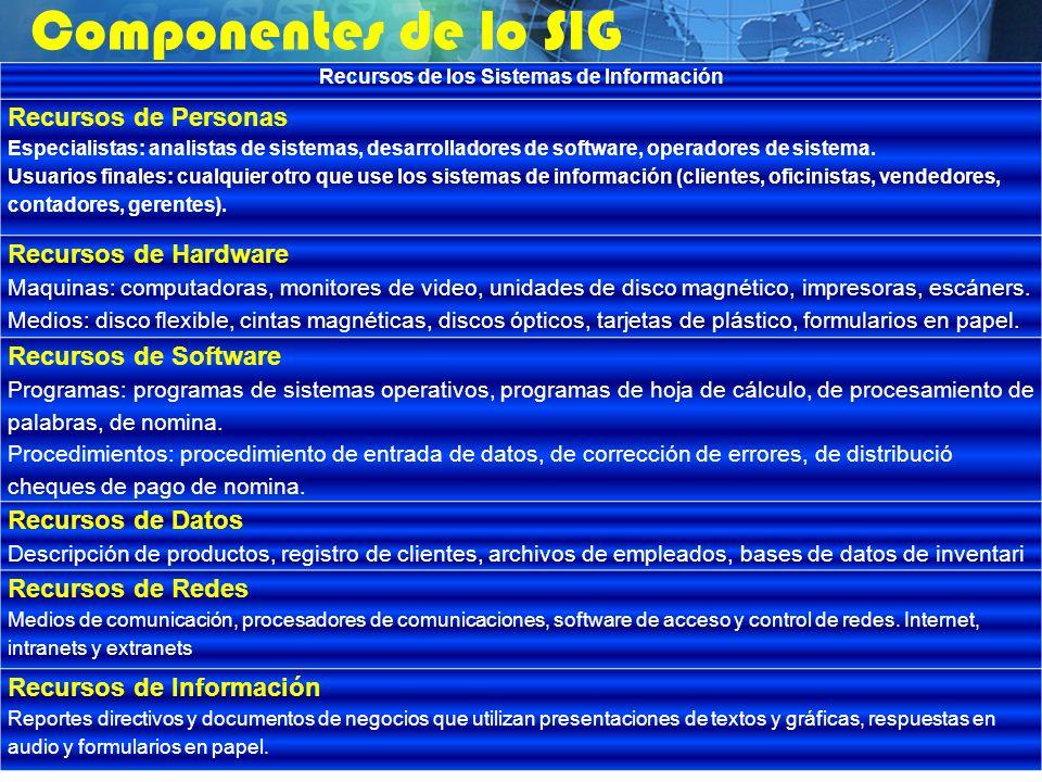 Recursos de los Sistemas de Información