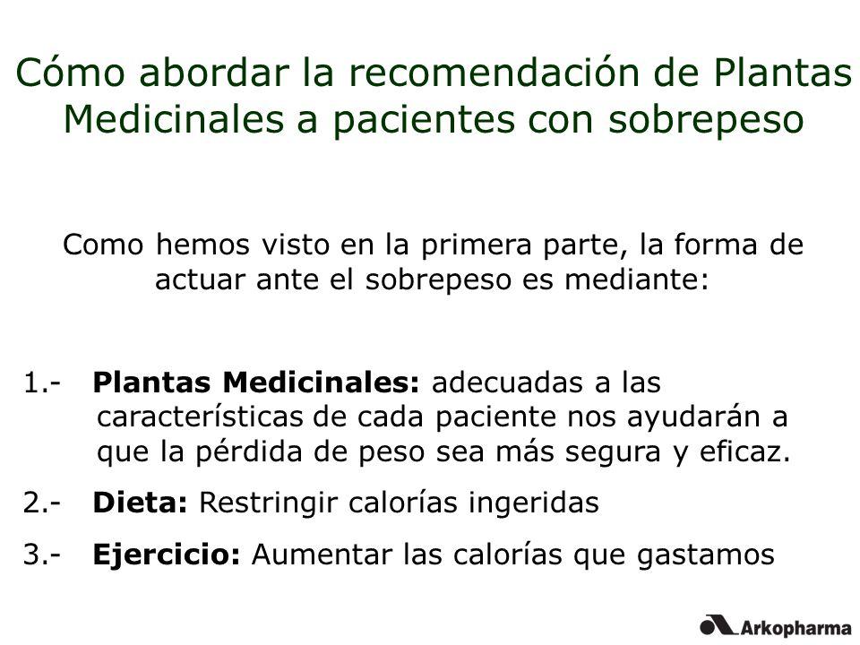 Cómo abordar la recomendación de Plantas Medicinales a pacientes con sobrepeso