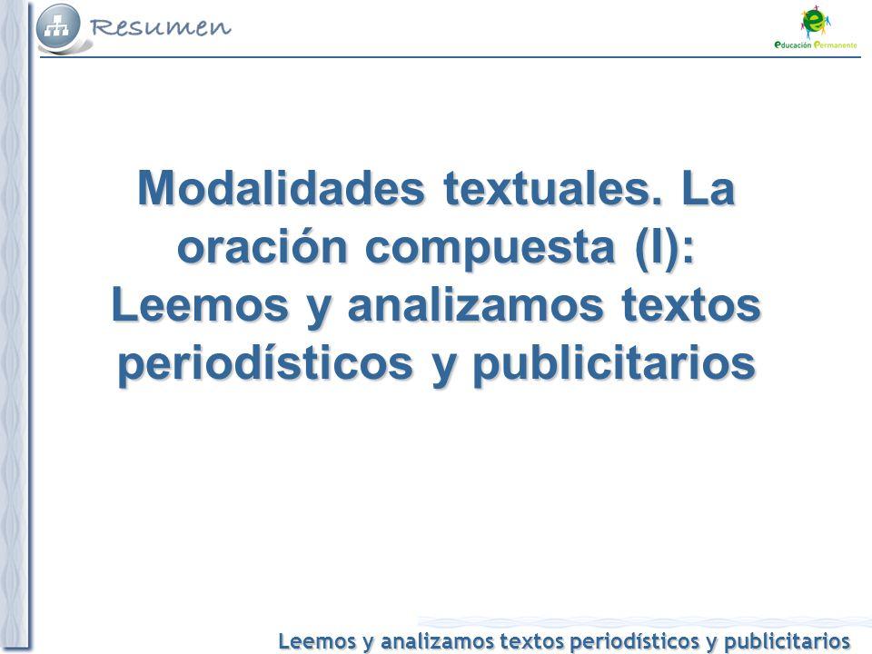 Modalidades textuales