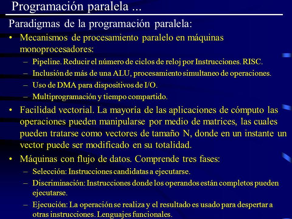 Paradigmas de la programación paralela: