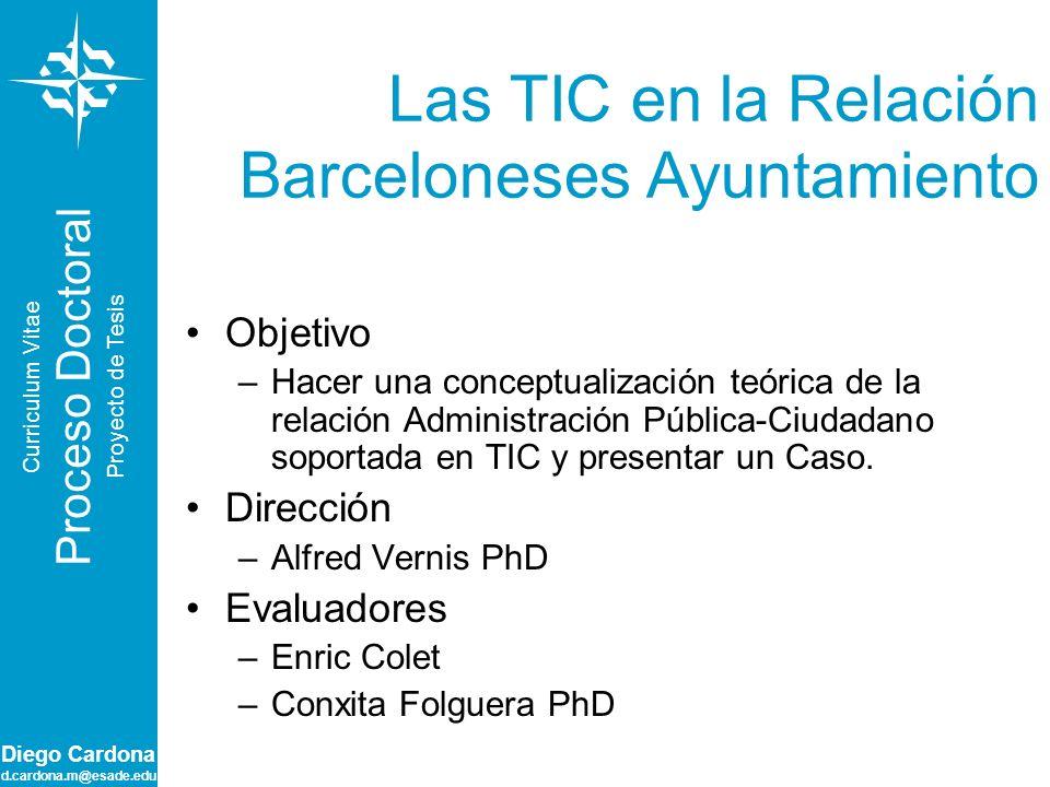 Las TIC en la Relación Barceloneses Ayuntamiento