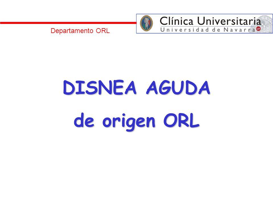 DISNEA AGUDA de origen ORL