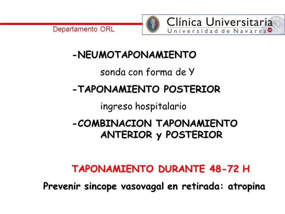 -TAPONAMIENTO POSTERIOR ingreso hospitalario