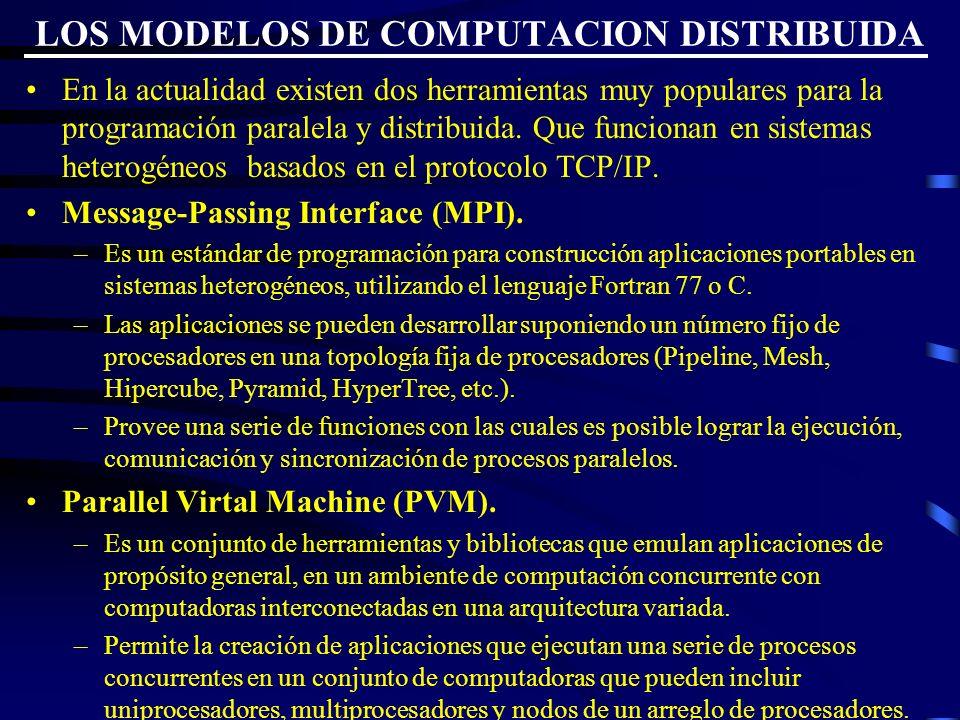 LOS MODELOS DE COMPUTACION DISTRIBUIDA