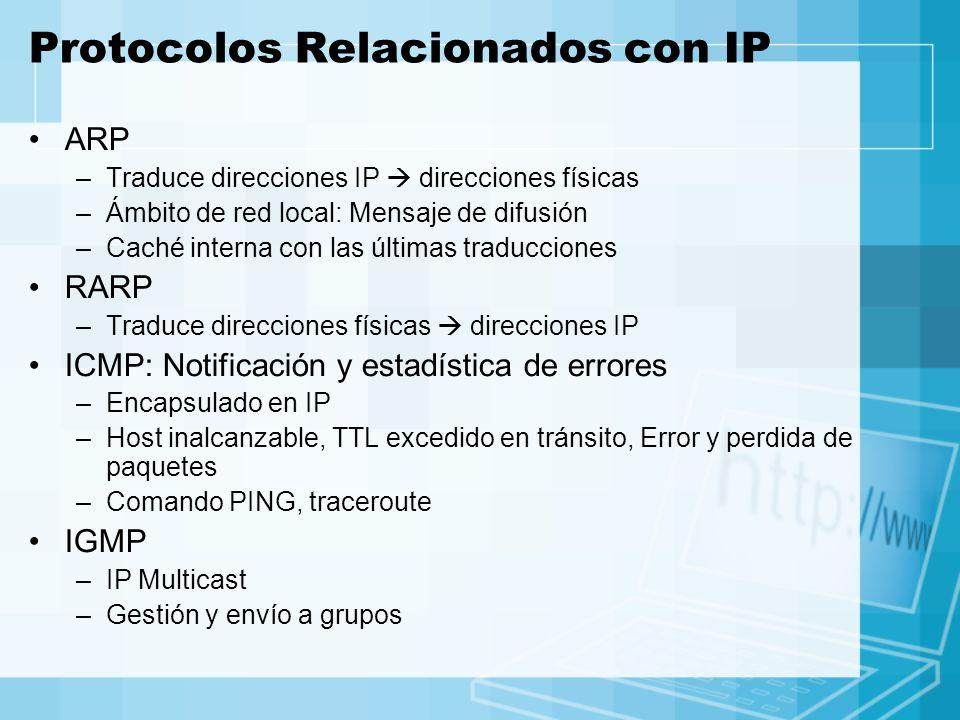 Protocolos Relacionados con IP
