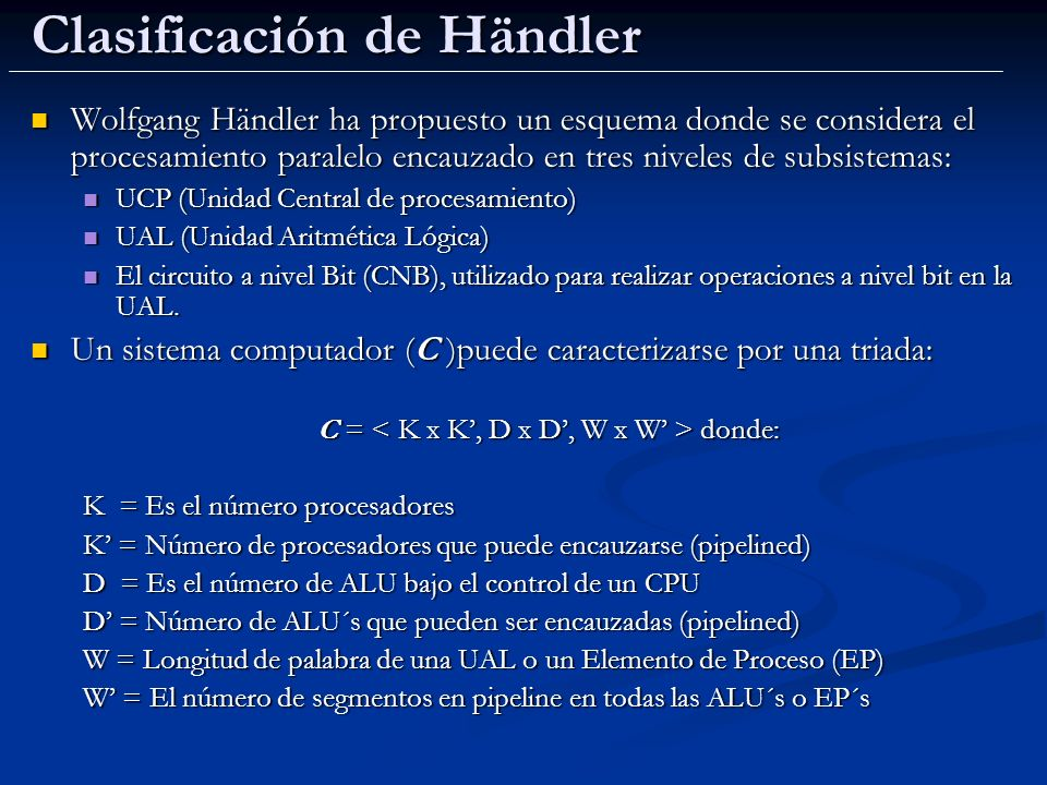 Clasificación de Händler