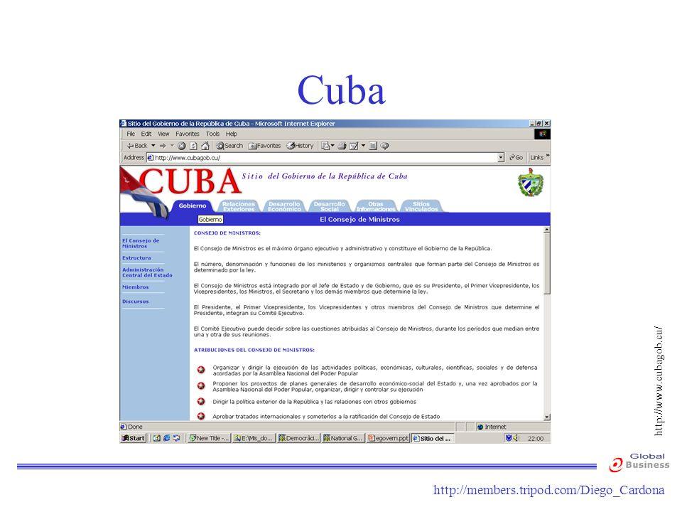 Cuba http://www.cubagob.cu/