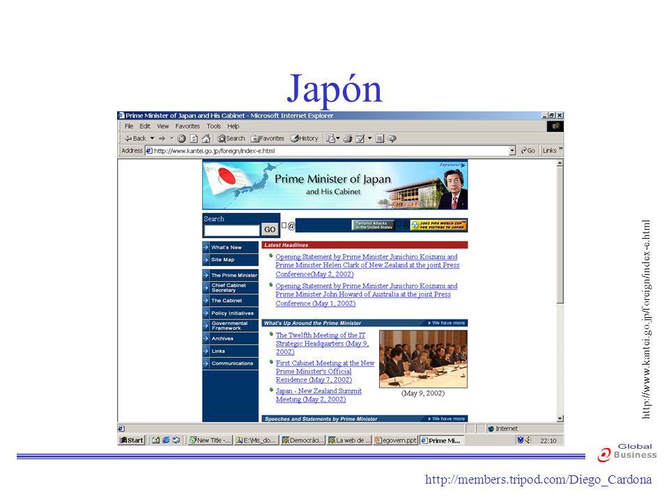 Japón http://www.kantei.go.jp/foreign/index-e.html