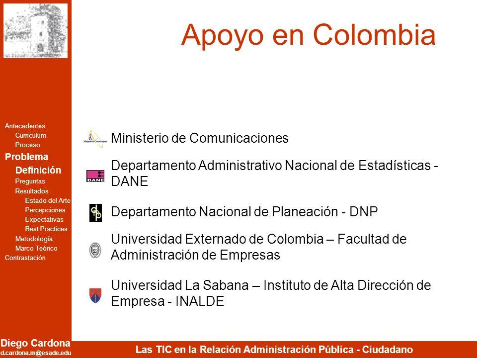 Apoyo en Colombia Ministerio de Comunicaciones