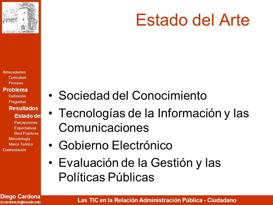 Estado del Arte Sociedad del Conocimiento