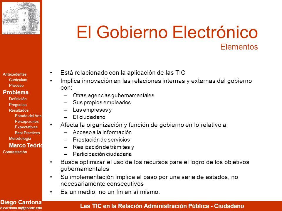 El Gobierno Electrónico Elementos