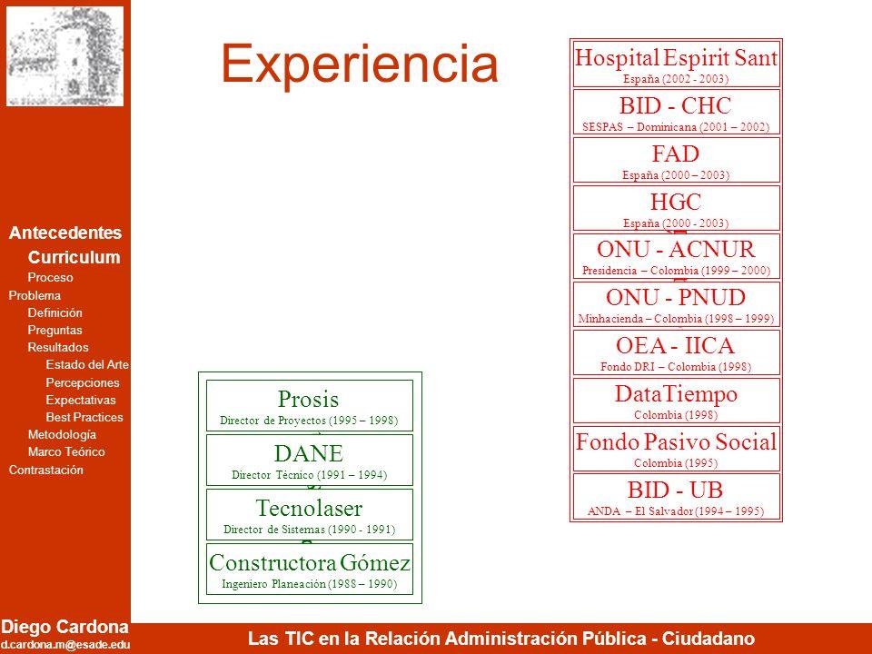 Experiencia Consultoría Profesional Hospital Espirit Sant BID - CHC