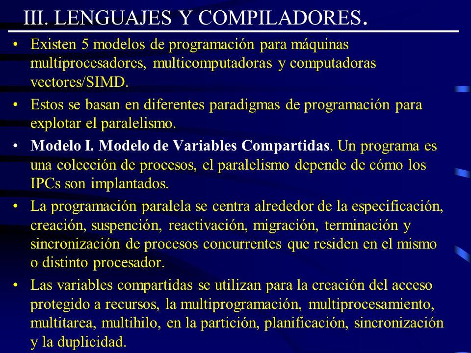 III. LENGUAJES Y COMPILADORES.