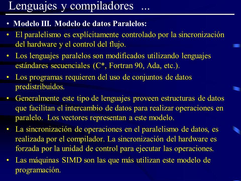 Modelo III. Modelo de datos Paralelos: