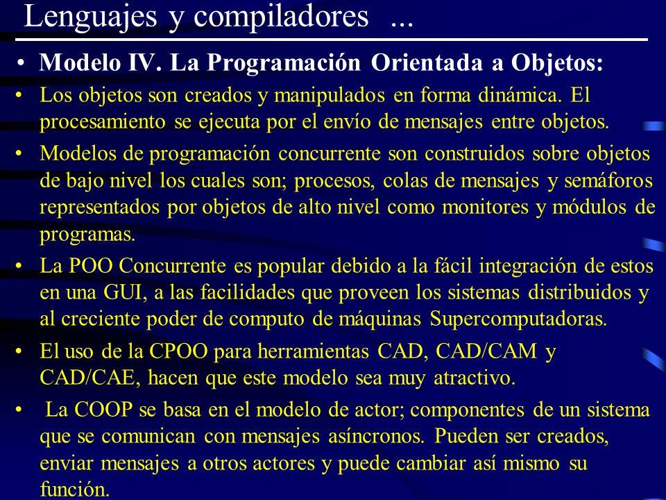 Modelo IV. La Programación Orientada a Objetos: