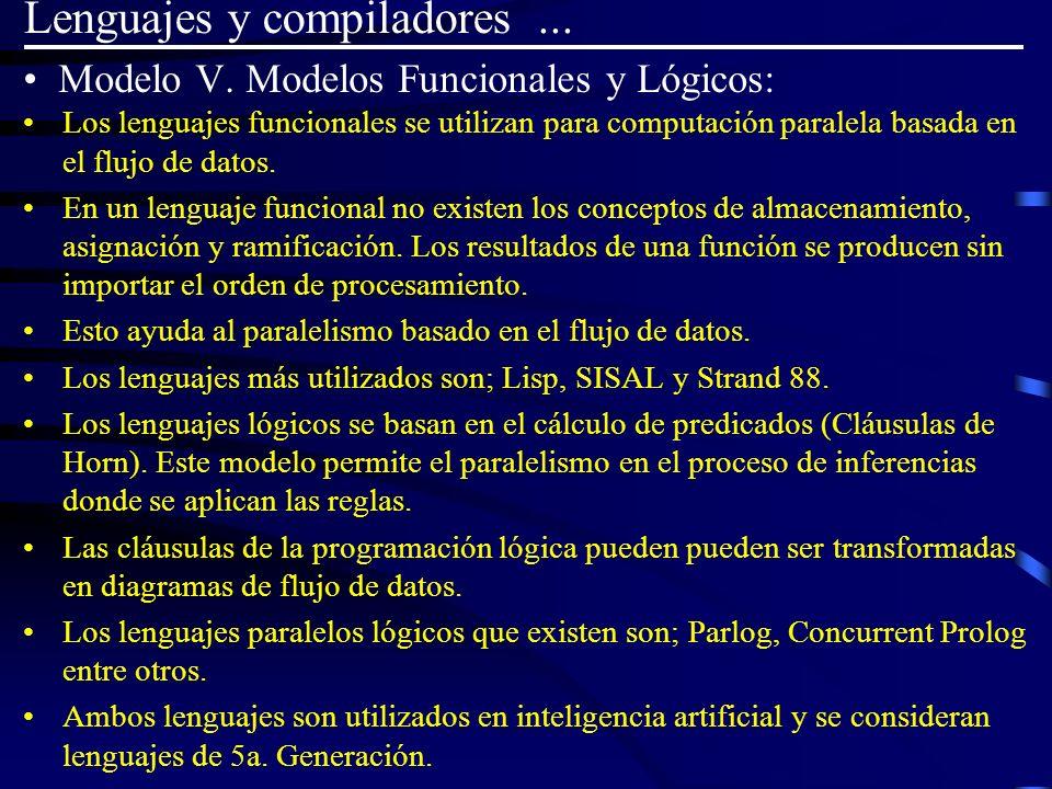 Modelo V. Modelos Funcionales y Lógicos: