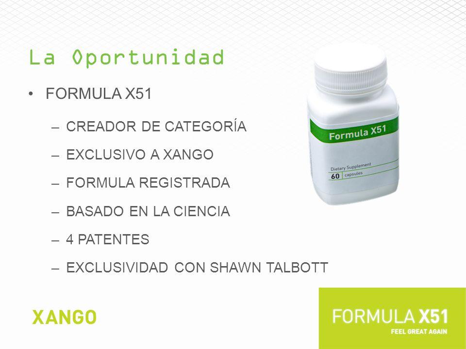 La Oportunidad Formula x51 Creador de categoría Exclusivo a XanGo