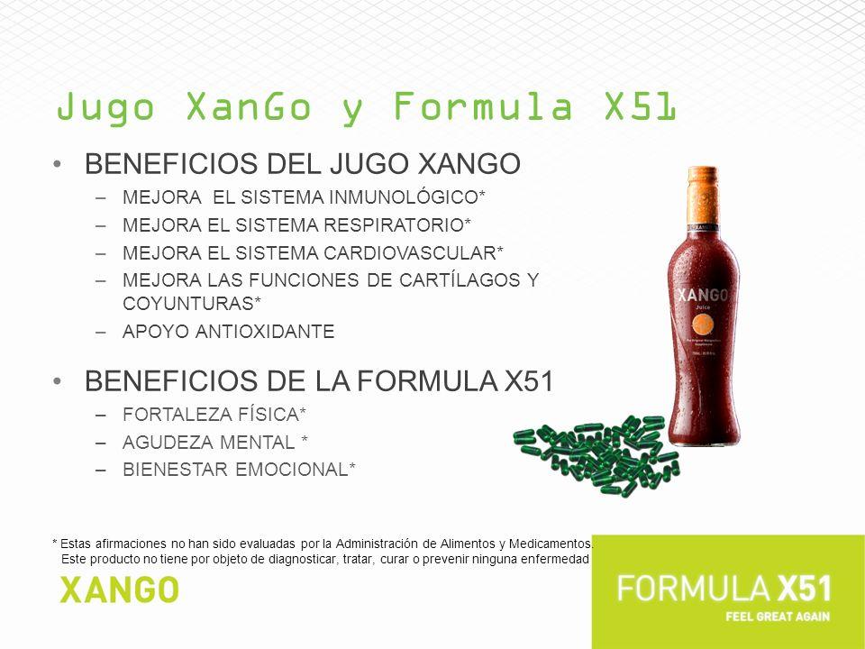 Jugo XanGo y Formula X51 Beneficios del jugo XanGo