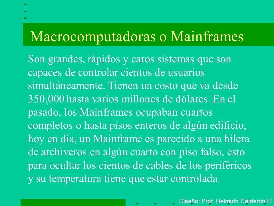 Macrocomputadoras o Mainframes